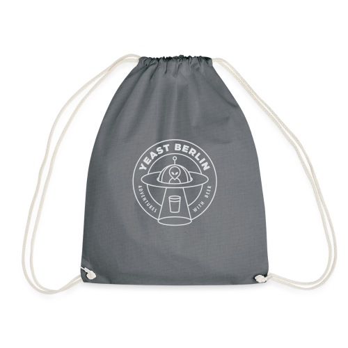 Yeast Berlin Original White Logo - Drawstring Bag