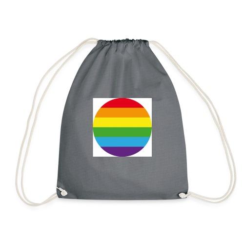 Pride Rainbow Circle - Drawstring Bag