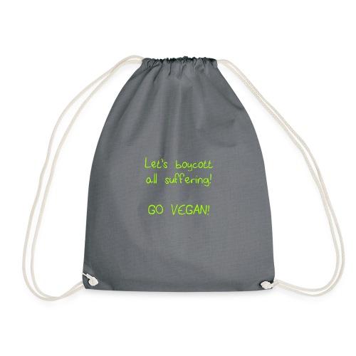 boycott suffering lime green png - Drawstring Bag