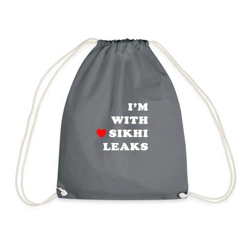 S-L-_I love SikhiLeaks - Drawstring Bag