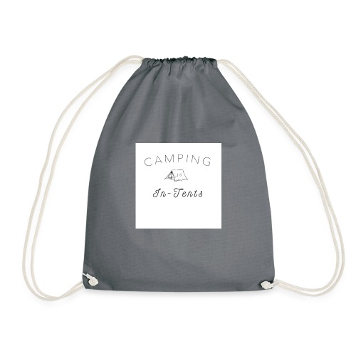 camping is in-tents - Drawstring Bag