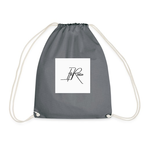 Small logo white bg - Drawstring Bag