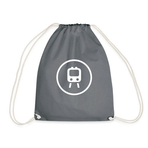 TRAINS 3 - Drawstring Bag