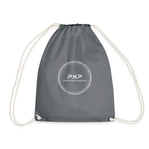 white logo transparent 2x - Drawstring Bag