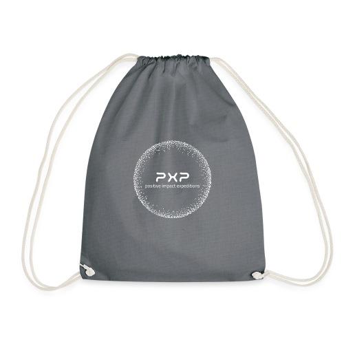 white logo transparent 2x - Drawstring Bag