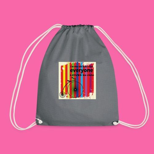 I m the old bike - Drawstring Bag
