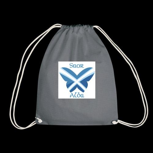Saor Alba butterfly - Drawstring Bag