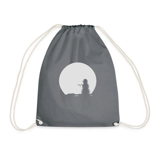 Snowman Hoody - Drawstring Bag