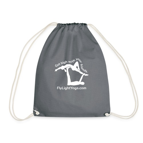 White: Get high with your friends - AcroYoga - Drawstring Bag
