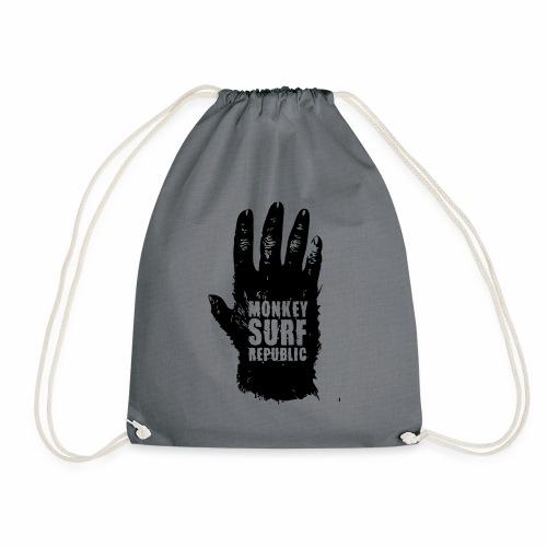 Monkey surf hand - Drawstring Bag