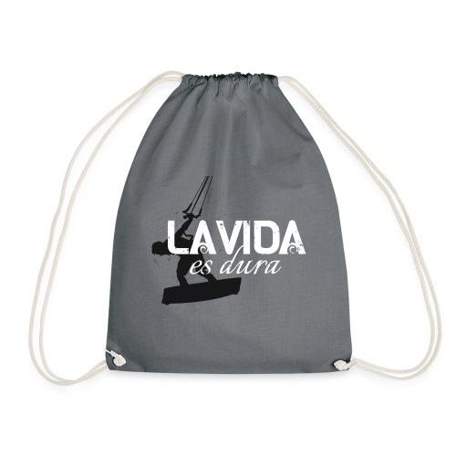 La Vida es Dura - Kitesurf Man - Drawstring Bag