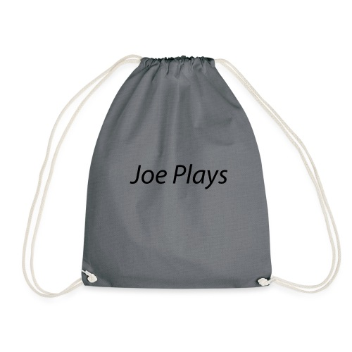 Joe Plays Black logo - Gymbag
