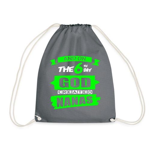God Created Nanas - Drawstring Bag