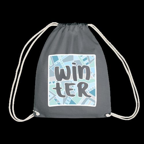 WINTER WHITE - Drawstring Bag