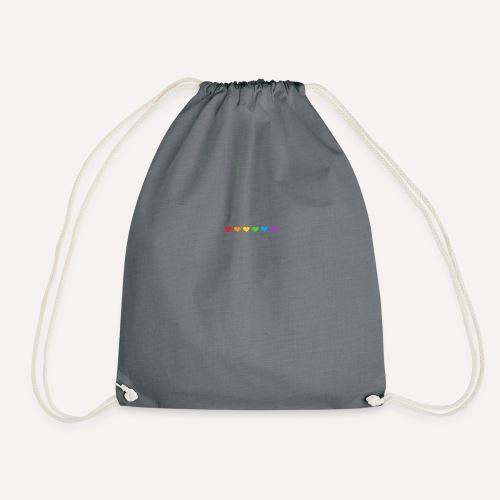 ColourFul Love Hearts Pride Symbol Print Design. - Drawstring Bag