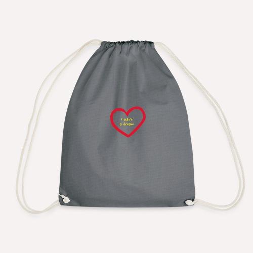 I have A Dream Print On Demand Love Heart Symbol - Drawstring Bag