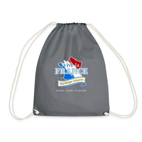 vive la France Frankreich République Française - Drawstring Bag
