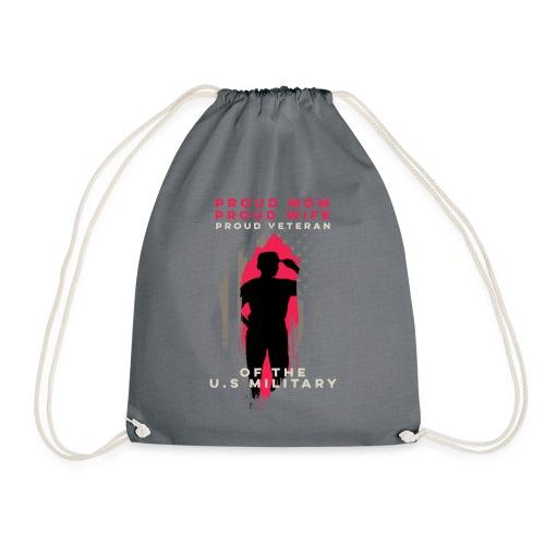 Proud Mom And Wife - Veteran Woman - Military Supp - Drawstring Bag