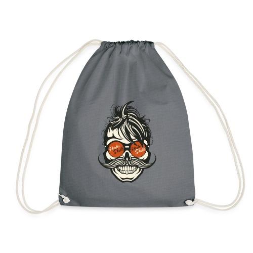 tete de mort hipster skull crane moustache lunette - Sac de sport léger