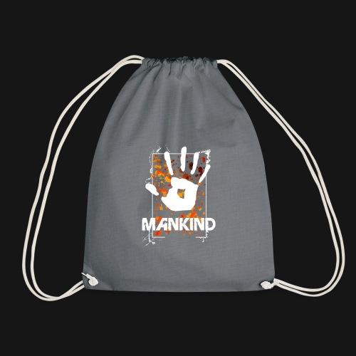 Mankind splatter design hand - Drawstring Bag
