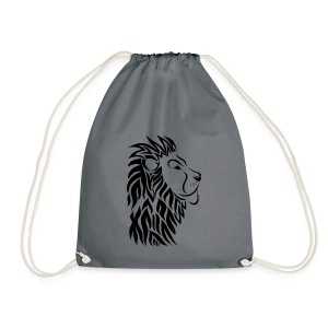 lion tribal shirt - Turnbeutel