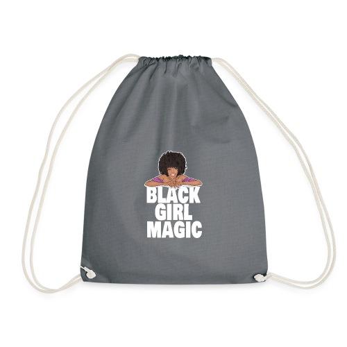 afro black gir magic - Drawstring Bag