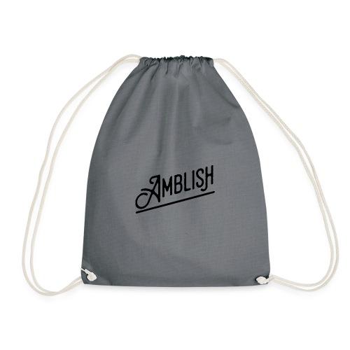 AMBLISH Logo BLACK - Turnbeutel