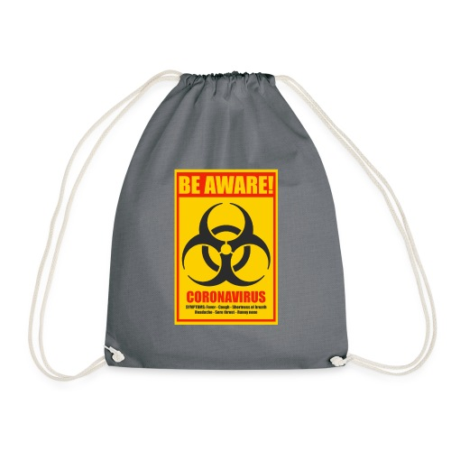 Be aware! Coronavirus biohazard - Drawstring Bag