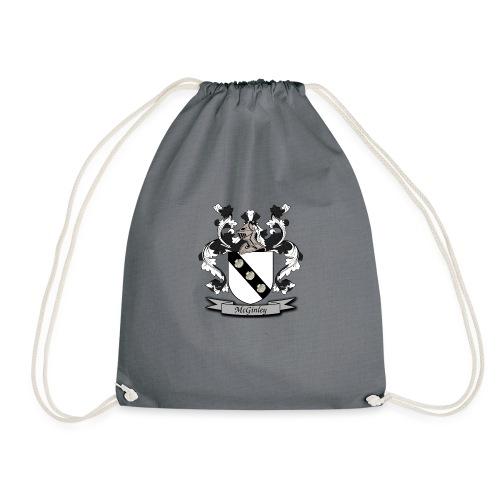 McGinley Family Crest - Drawstring Bag