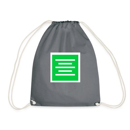 Please Insert Random Information Here Logo - Drawstring Bag