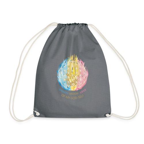 Blume des Lebens & Dreifältige Flamme - Turnbeutel