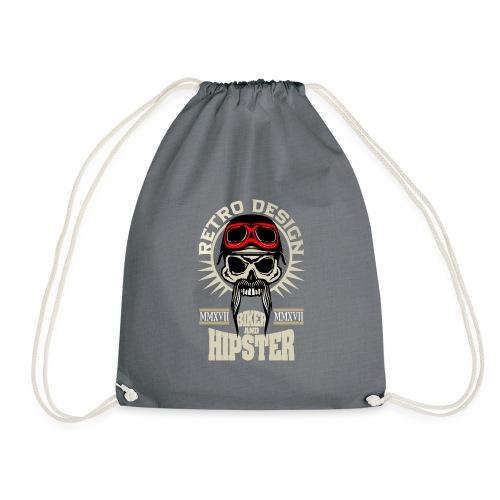tete de mort hipster biker skull crane motard lune - Sac de sport léger