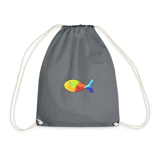 Happy Fish Transparent - Turnbeutel