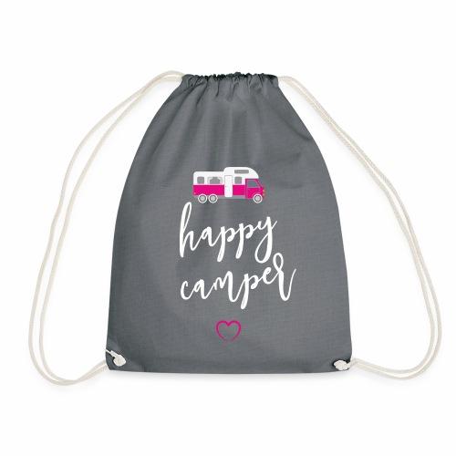 happy Camper pink weiss - Turnbeutel