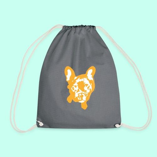 Bulldogge Beige schauend - Turnbeutel
