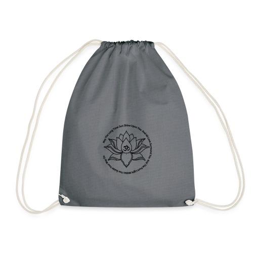 Lotusbluete mit Mantra - Turnbeutel