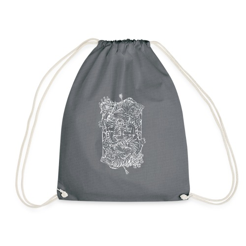 Tiger Print - Drawstring Bag