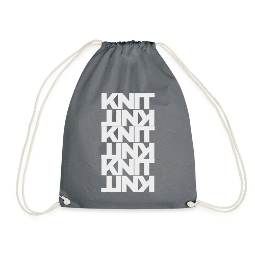 Garter Stitch, light - Drawstring Bag