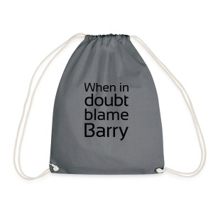 Blame Barry - Drawstring Bag