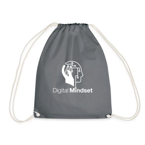 Digital Mindset Logo Weiß - Turnbeutel