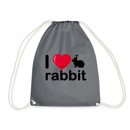 Zu nett Kaninchen i love black rabbit - Turnbeutel