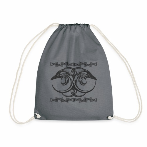 Odin's Ravens - Hunnin and Munnin - Drawstring Bag