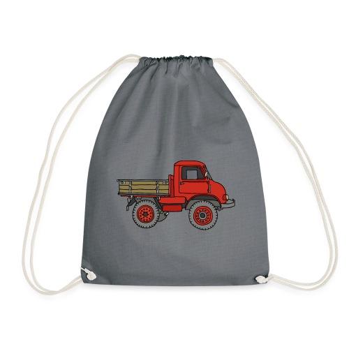 Roter Lastwagen, LKW, Laster - Turnbeutel