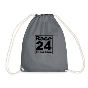 Race24 logo in black - Drawstring Bag