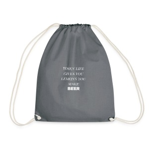 Beer lemons - Drawstring Bag