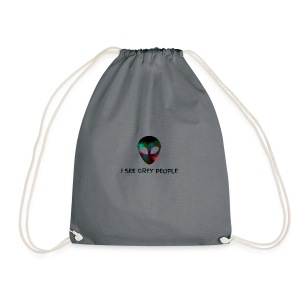 I SEE GREY PEOPLE - Drawstring Bag