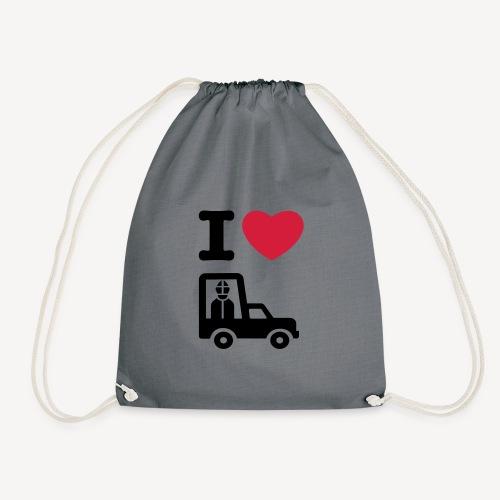 Papst im Auto - Drawstring Bag