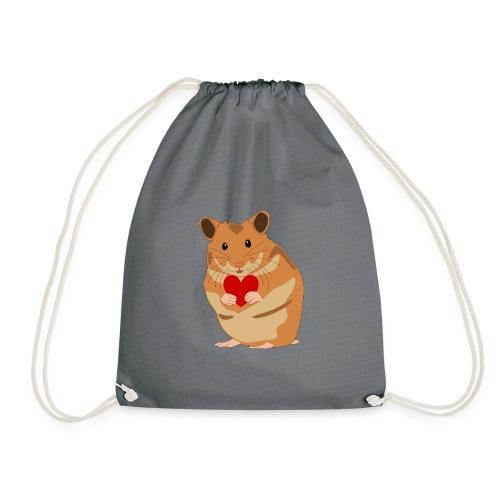 Hamster mit Herz - Hamsterliebe - Hamsterfan - Turnbeutel