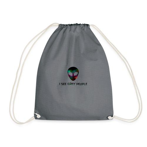 I SEE GREY PEOPLE - Drawstring Bag