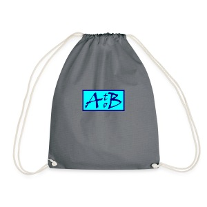 AtoB Logo light blue - Drawstring Bag
